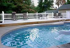 Enjoy the swimming pool at Plain & Fancy Bed and Breakfast